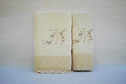 Juego de 3 toallas beije(100x150, 50x100, 50x30)