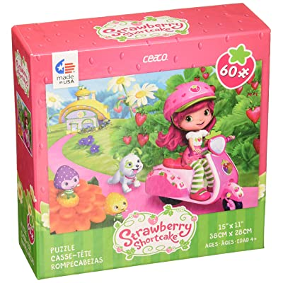 Ceaco Strawberry Shortcake On Her Vespa Puzzle (60Piece): Toys & Games