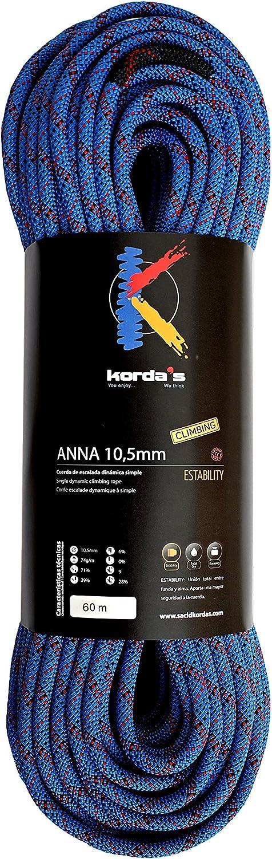 Kordas Anna 10.5 Cuerda de Escalada, Azul, 60 m: Amazon.es ...