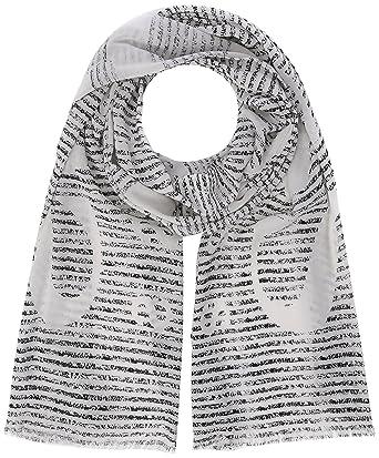 6770feca6360 BOSS Nabril-4, Echarpe Homme, Blanc (Open White 120), Taille unique   Amazon.fr  Vêtements et accessoires