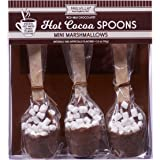 Hot Chocolate Maker Spoon With Mini Marshmallow 3 Spoons Per Set