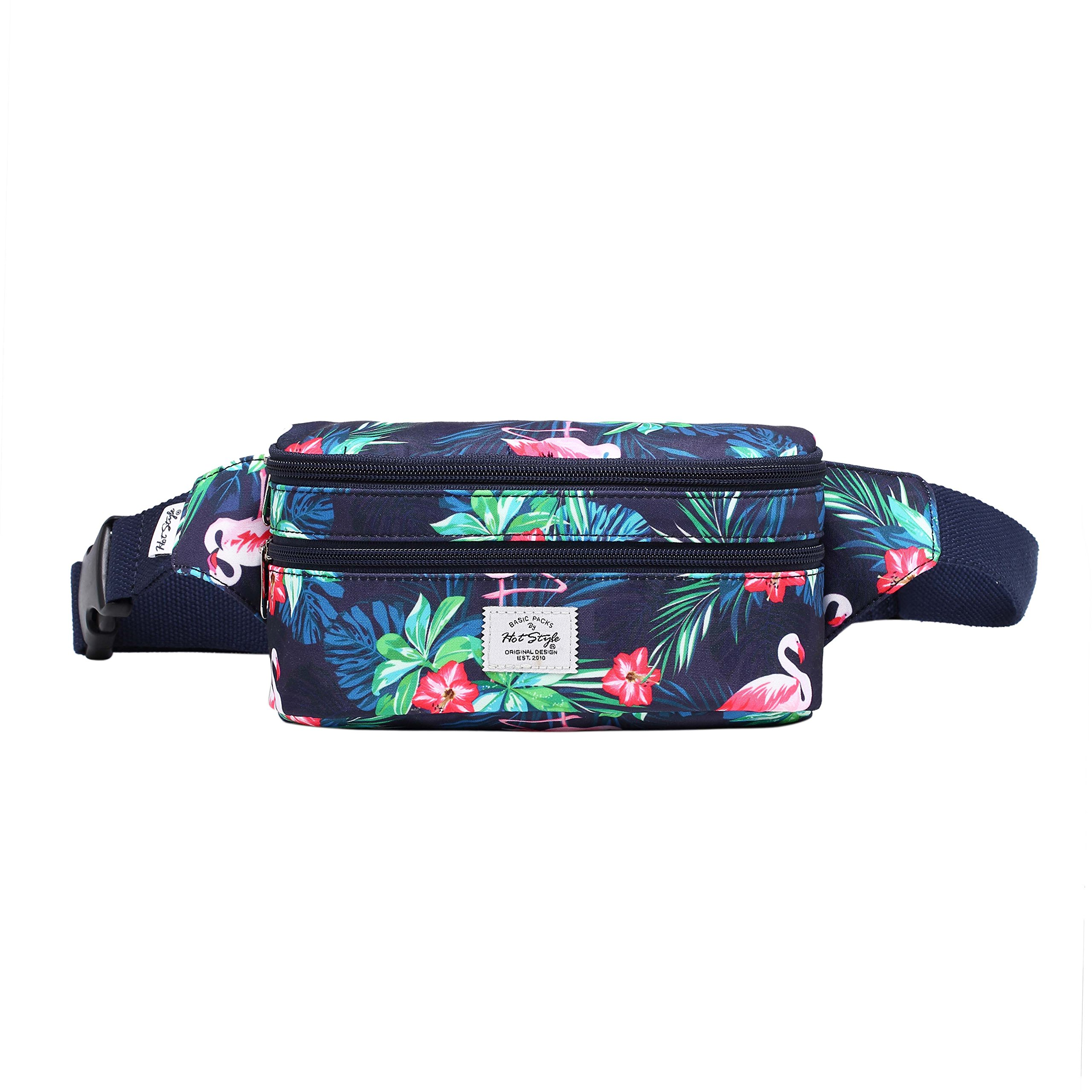 521s Fashion Waist Bag Cute Fanny Pack | 8.0''x2.5''x4.3'' | Flamingoes by hotstyle