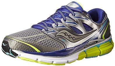 Womens Shoes Saucony Hurricane ISO Grey/Twilight/Citron