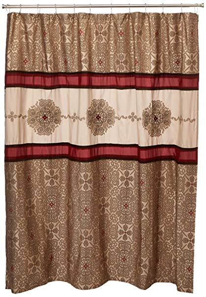 Bon Amazon.com: Madison Park Donovan Design Weave Red Shower Curtain, Jacquard Traditional  Shower Curtains For Bathroom, 72 X 72, Blush: Home U0026 Kitchen