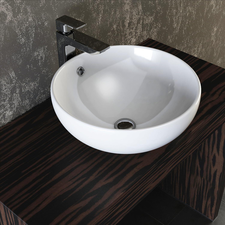 Waschbecken küche weiß  VILSTEIN© Keramik Waschbecken Aufsatz-Waschbecken Aufsatz ...