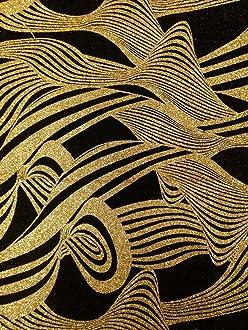 Shiny Silver Glitter Dots on Stretch Textured Polyester Spandex Fukuro Fabric