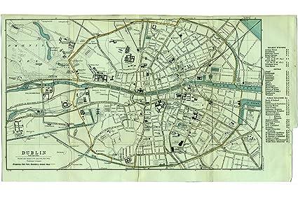 Dublin Ireland Map on