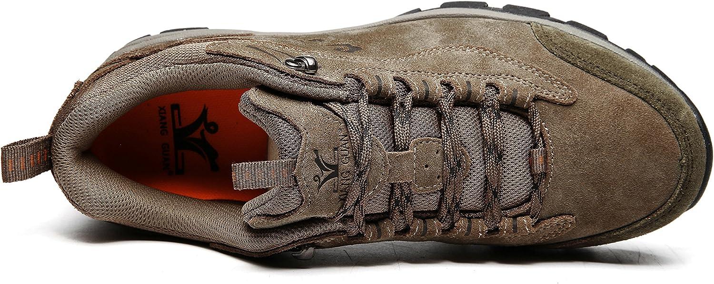 XIANG GUAN Hilking Shoes for Men Women Running Camping Walking Leather Fashion Wearable Warm Soft Shoes