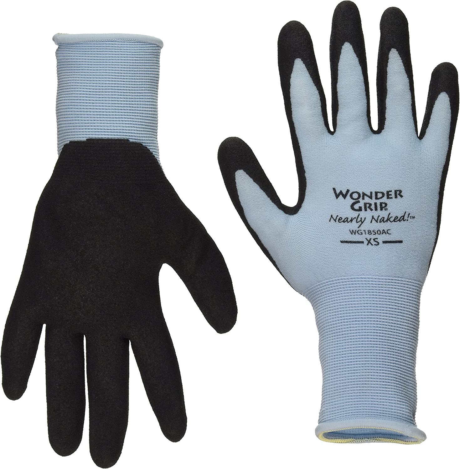 Wonder Grip Nearly Naked Gloves, X-Small, Assorted Colors