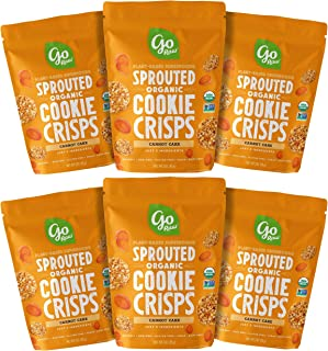 product image for Go Raw Organic Cookie Crisps, Carrot Cake, 3 oz. Bags (Pack of 6) — Superfood | Paleo | Gluten Free Snack Crisps | Vegan