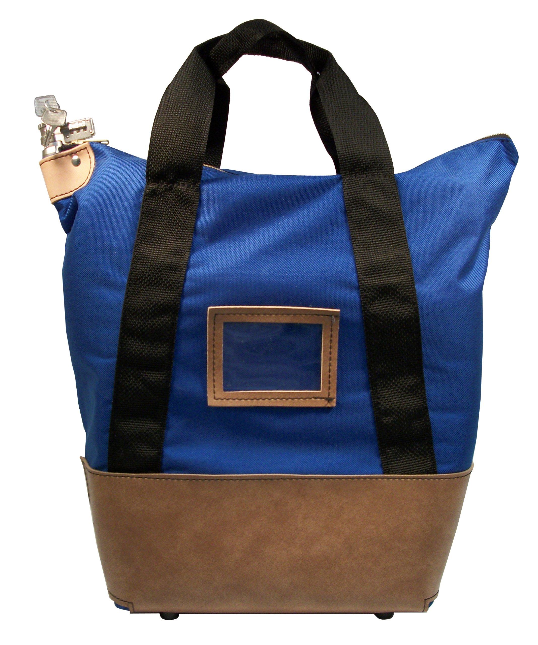 Locking Courier Bag 1000 Denier Nylon Combination Lock Royal Blue