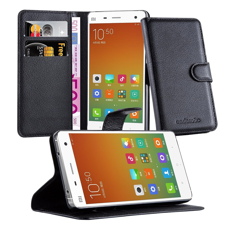 Cadorabo Funda Libro para Xiaomi Mi 4 en Negro Fantasma – Cubierta Proteccíon con Cierre Magnético, Tarjetero y Función de Suporte – Etui Case Cover ...