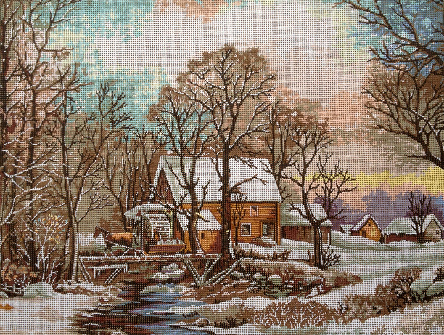 Needlepoint Kit The Mill 15.7x11.8 40x30cm Printed Canvas 117