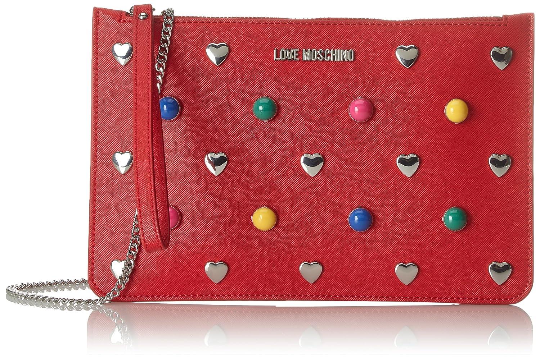 Moschino Borsa Pu Rosso, Sacs portés épaule femme, (Red), 1x17x21 cm (B x H T)