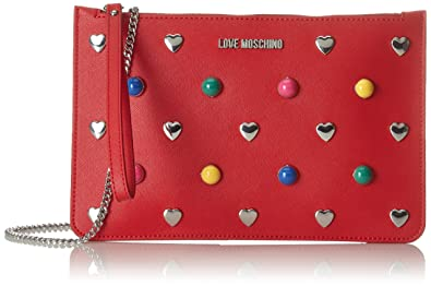 43dac95f1f Amazon.com: Love Moschino Women Red Clutch bags: Clothing