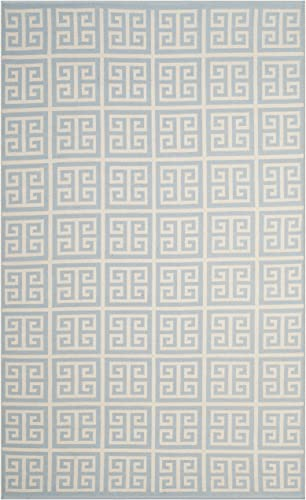 Safavieh Montauk Collection MTK724K Light Blue and Ivory Area Rug 5 x 8
