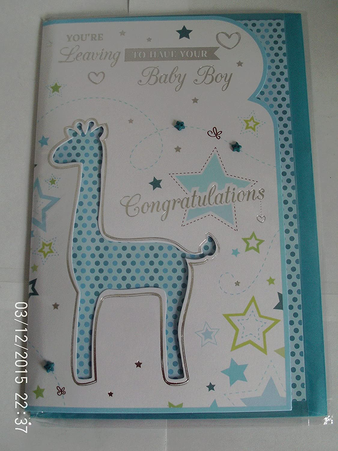 You're Leaving To Have Your Baby Boy Card BGC Studios