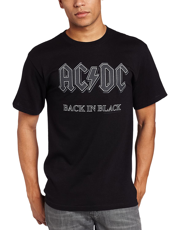 Impact Men's AC/DC Back In Black Short-Sleeve T-Shirt ACDC09