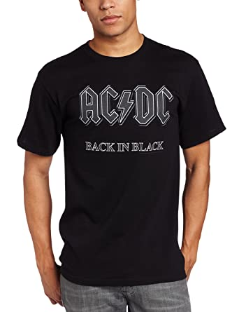 Amazon.com: Impact Men's AC/DC Back In Black Short-Sleeve T-Shirt ...