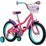 "Schwinn Jasmine Girl's Bike with Training Wheels, 16"" Wheels, Multiple Colors"