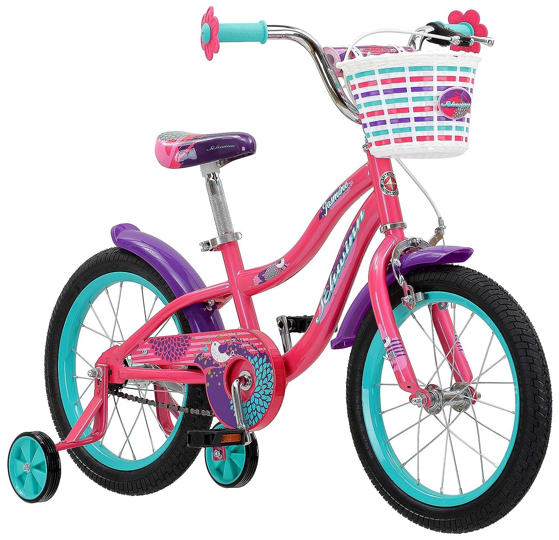 67e8f805c6d Amazon.com: Schwinn Jasmine Girl's Bike with Training Wheels, 16