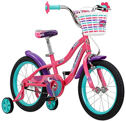 0c376e483b3 Amazon.com: Schwinn Jasmine Girl's Bike with Training Wheels, 16 ...
