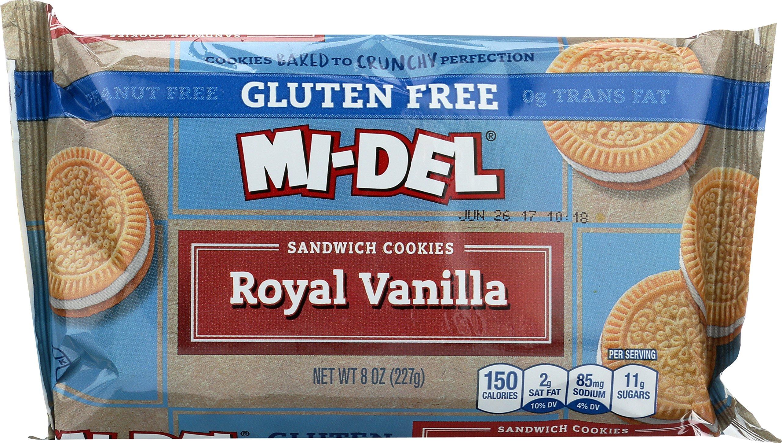 Mi-Del Gluten Free Cookies, Vanilla Sandwich, 8 Ounce (Pack of 12) by Mi-Del