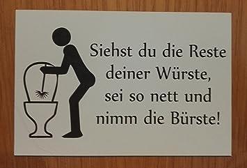 Amazonde Gravola Toilettenschild Lustiges Schild Wc Toilette