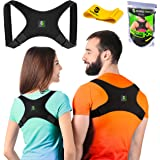 Evoke Pro Back Posture Corrector for Women and Men + Resistance Band - Trains your back muscles to prevent slouching and provides back pain relief