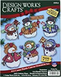 """Design Works Crafts Welcome Winter Cross Stitch Ornament Kit, 4"""""""