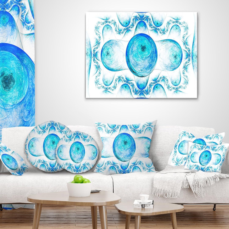 in Sofa Throw Pillow 26 in x 26 in Designart CU16232-26-26 Blue ...