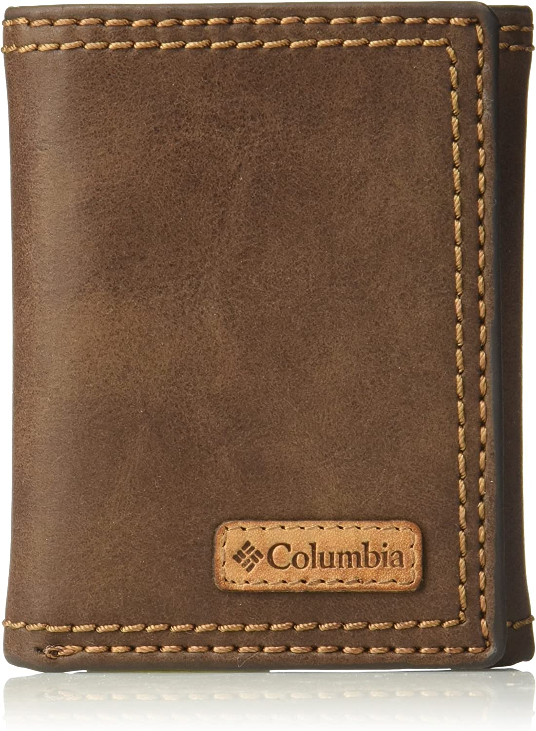 Columbia Men's RFID Trifold Wallet, Brown Casual, One Size
