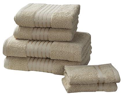 Rapport Windsor - Juego de toallas (M2), 100% algodón, color verde: Amazon.es: Hogar