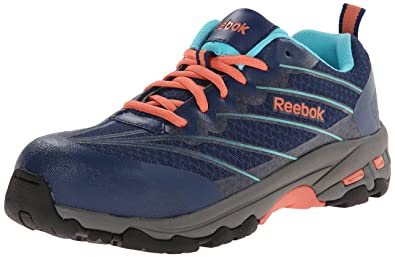 Womens Shoes Reebok Work Exline CT Indigo/Coral