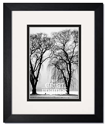 Amazon.com - Gallery II One 11x14 Black Wood Picture Frames with ...