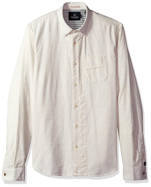 Scotch /& Soda Mens Brushed Cotton Shirt