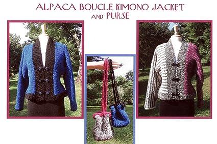 Amazon Alpaca Boucle Kimono Jacket Purse Dawn Brocco