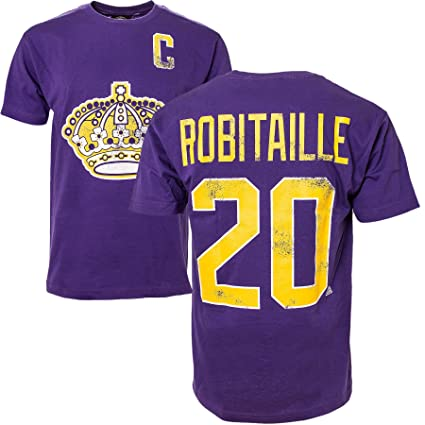 low priced 8a42f 93291 ... czech los angeles kings luc robitaille vintage nhl alumni t shirt 00c93  ee062