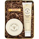 Burts Bees Gift Set, 3 Pregnancy Skin Care Products - Mama Belly Butter, Lip Balm Original Beeswax, Leg & Foot Cream, with Gi