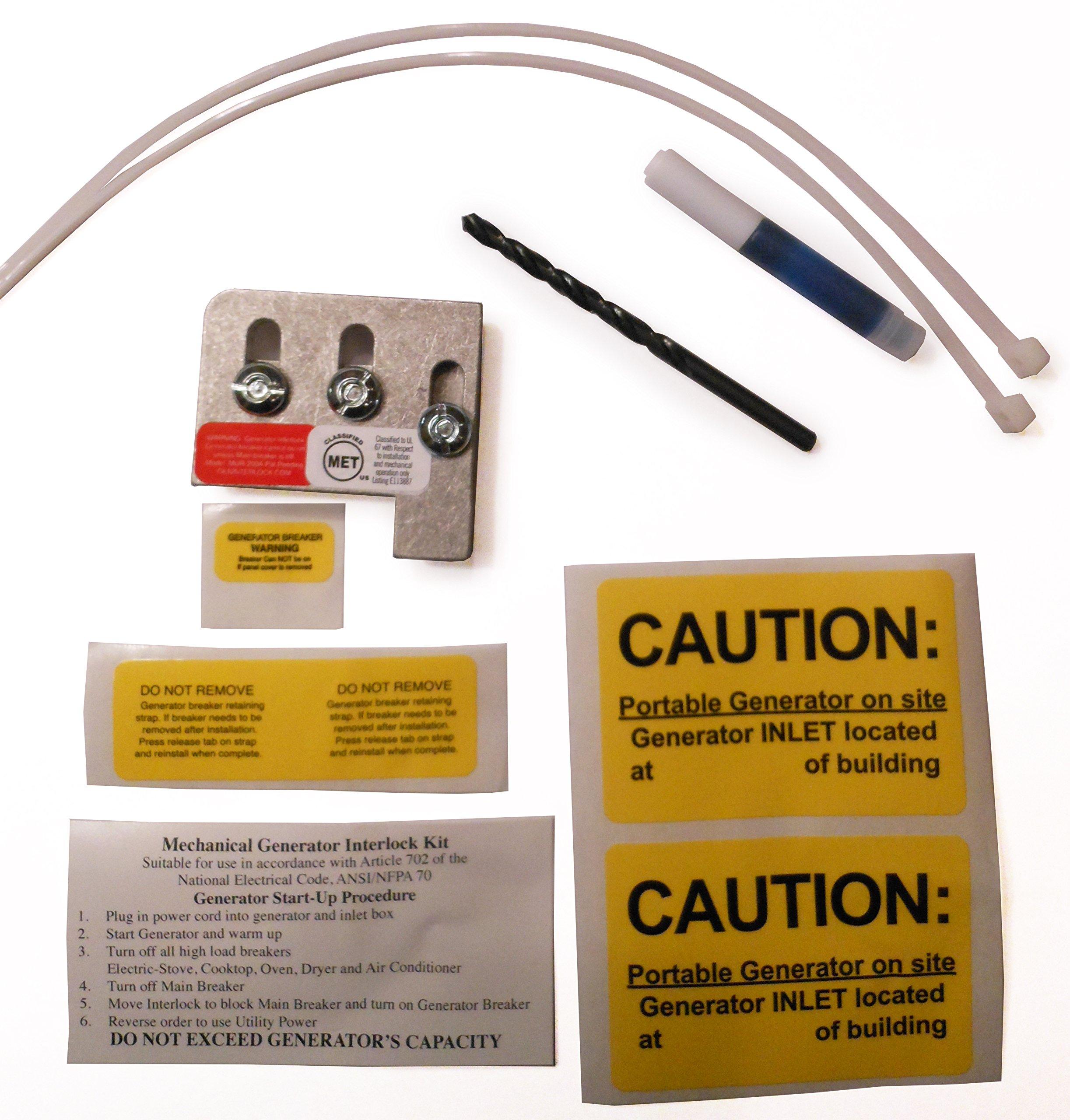 Automotive Fuse Box Generates 20 Amps Of Electrical Power Wiring Headphones Generator Interlock Amazon Commur 200a Murray Or Siemens Kit 150 Amp 200