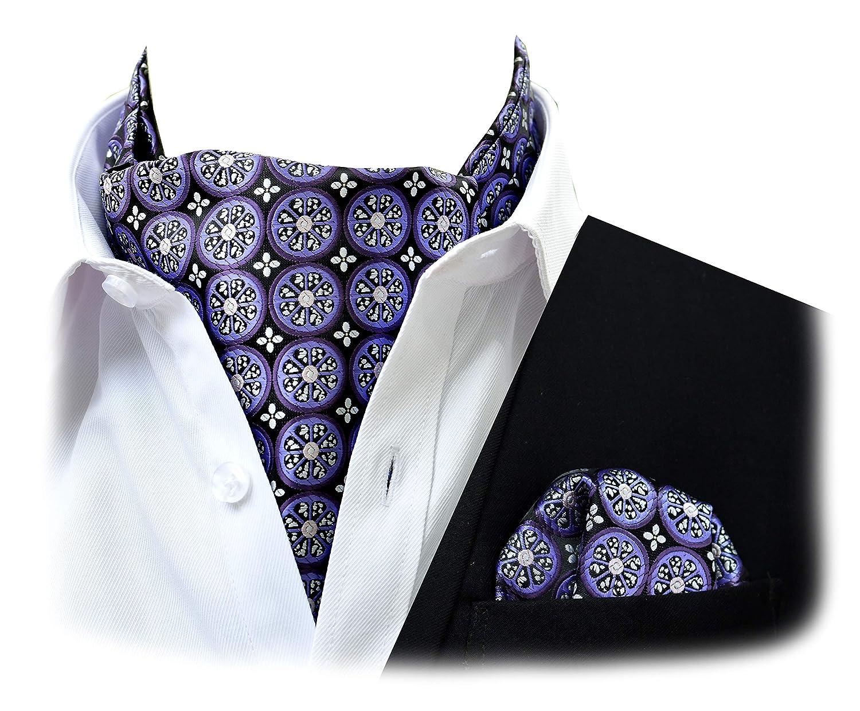 Felix /& SiLK Hombre Ni/ño jacquard Flores Reversible Set Ascot Cravat Gazn/é Corbatas Fulares Bufanda de Cuello Cuadrado de Bolsillo Pa/ñuelos Bandana Hecho a Mano