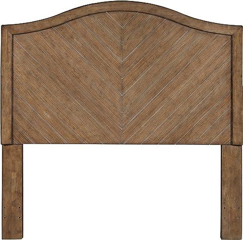 Pulaski Camel Back Chevron Patterned Wood Headboard