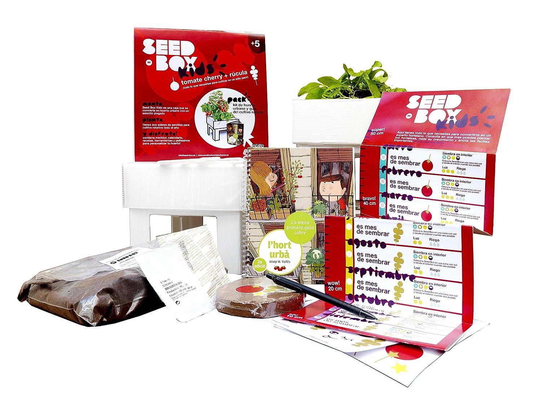 SeedBox Kids - Huerto Urbano para niños con Libro, Color Rojo ...