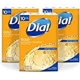 .Dial Antibacterial Deodorant Bar Soap, Gold, 4-Ounce Bars, 10 Count (Pack of 3)