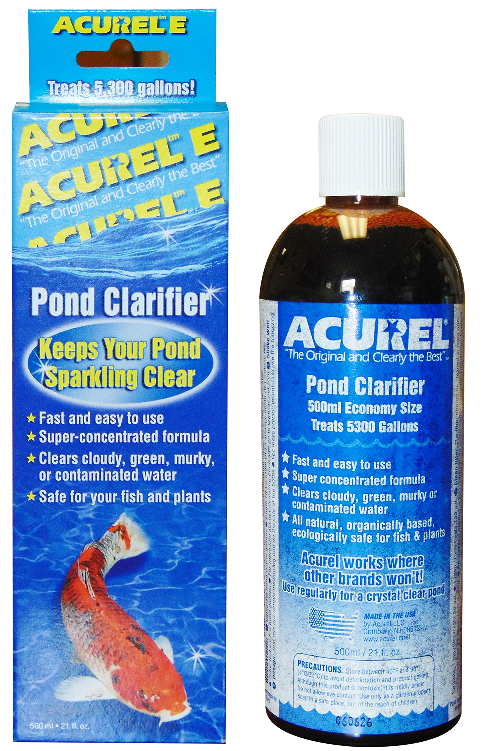 Acurel E500 Millimeter Pond Clarifier, Treats 5, 300 Gallons