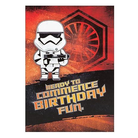 Amazon star wars the force awakens stormtrooper birthday card star wars the force awakens stormtrooper birthday card bookmarktalkfo Images