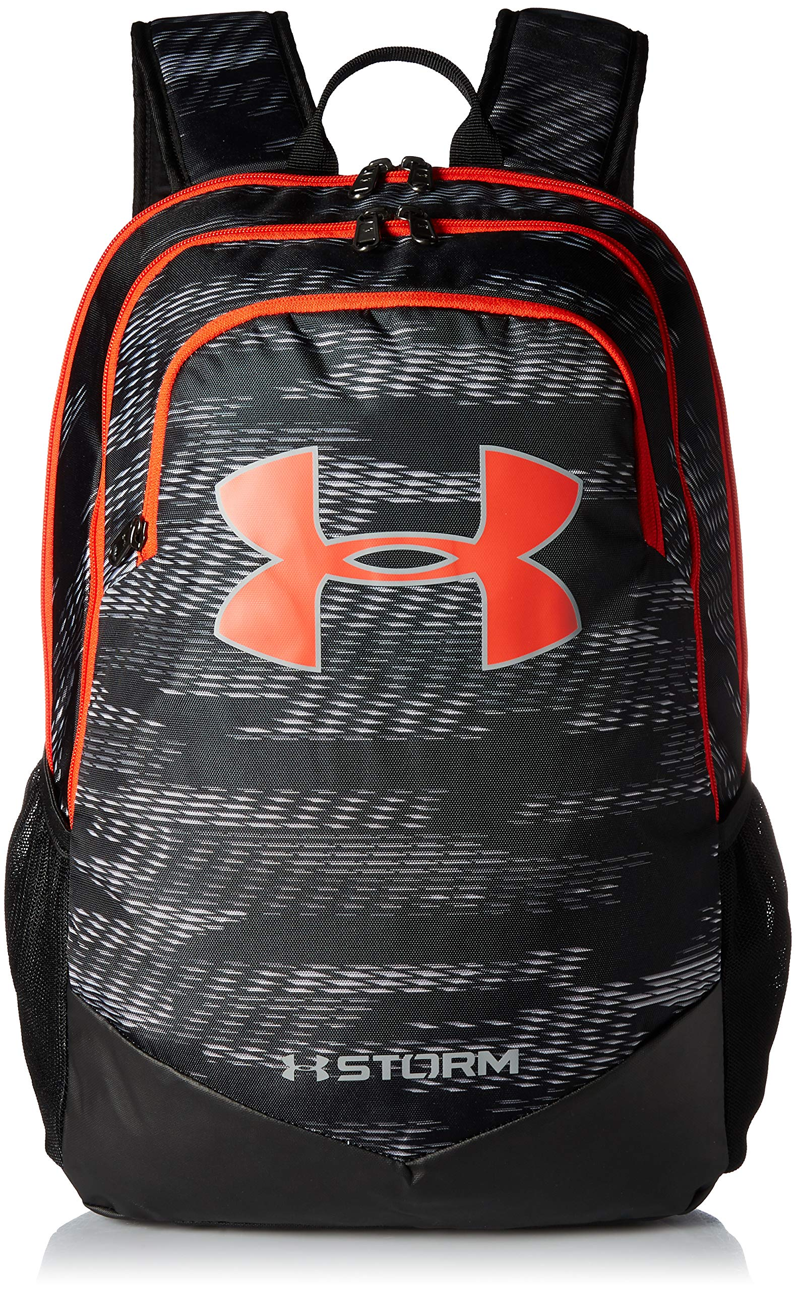 Under Armour Boy's Storm Scrimmage Backpack, Black (004)/Radio Red, One Size