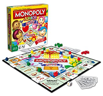 Hasbro 368871010 Monopoly Junior Party Juego De Mesa En Frances