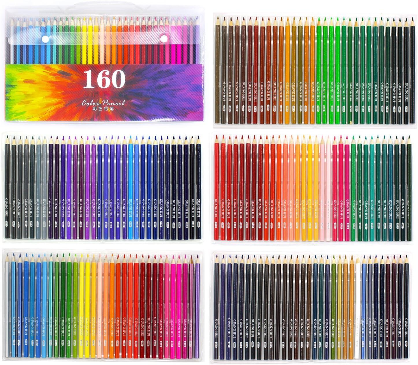 160アート色鉛筆、ソフトコアカラー鉛筆セットfor Adult Coloring Books ARTIST図面スケッチCrafting