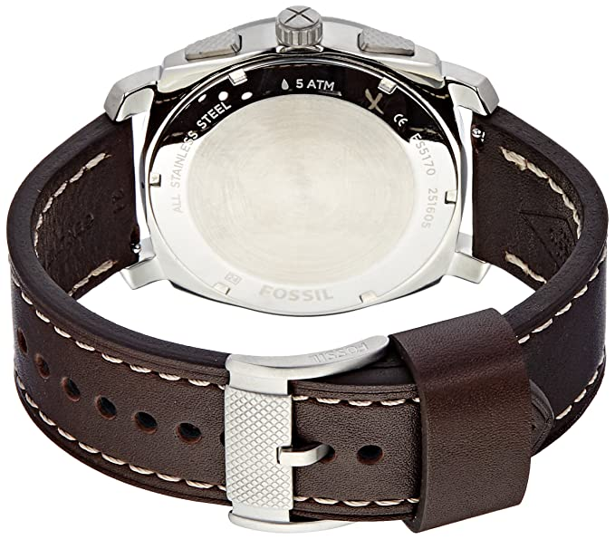 Amazon.com: Fossil Mens FS5170 Machine Chronograph Dark Brown Leather Watch: Watches